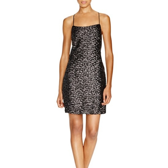 cf3e162500e2 Vera Wang Dresses | Womens Sequin Slip Dress Black Size 12 | Poshmark